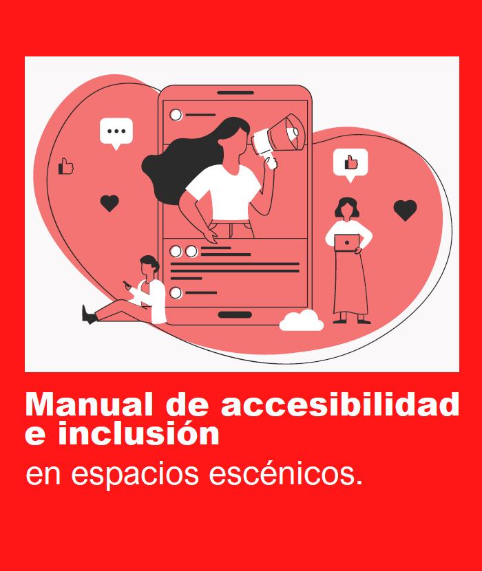 Portada del Manual de accesibilidad e inclusión en espacios escénicos
